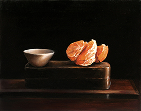 3. Mandarin with Bowl.2013. 25 x 20 cm. Oil on linen