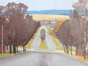 Rachel Ellis Bathurst Landscape -William Street 2012, oil on board. 112.5 x 99.5 cm.