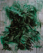 Peter Gardiner Green Pile 2015, oil on paper. 1.8m x 1.5m. Courtesy of the artist.