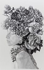 Amy Dynan Adorned 2014, charcoal on paper. 120cm x 80cm. Image courtesy of the artist.