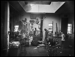 Laura Ellenberger pinhole photographic image, sculptor's studio Suffolk 2015. Courtesy of the artist.