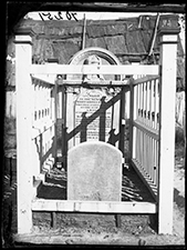 Grave of Mary Agnes Hurley d. September 4th 1871, Hill End. 1870-75.  American & Australasian Photographic Company. Collection: State Library of NSW.