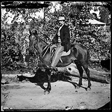 Mr. Ellis [?] on Horse. 1870-75. American & Australasian Photographic Company. Collection: State Library of NSW.